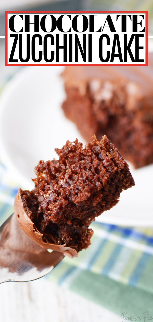 Chocolate Zucchini Cake Pin 1