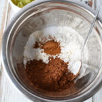 Combine dry ingredients for zucchini cake