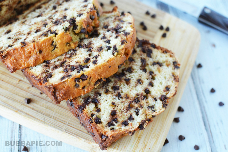 Easy Chocolate Chip Bread Loaf Recipe Bubbapie