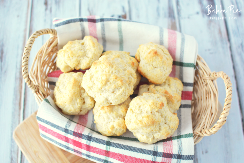These Quick and Easy Drop Biscuits are the perfect partner for any dish.