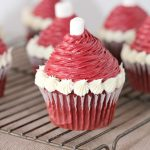 Santa Hat Cupcakes are the perfect easy holiday dessert recipe