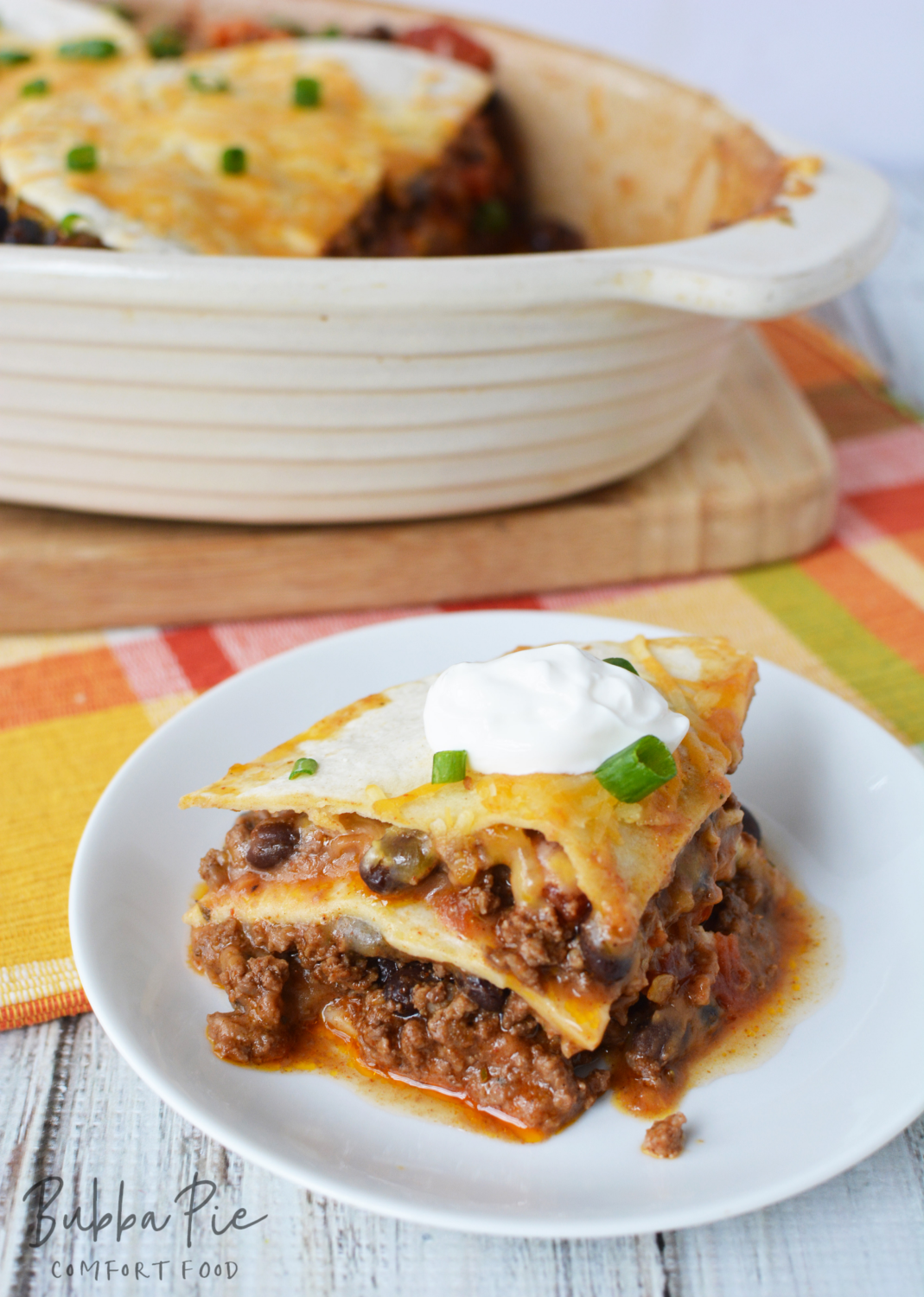 Taco Lasagna is the perfect family dinner for any time of year.
