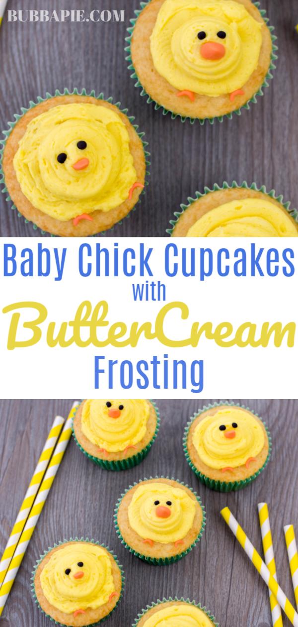 Baby Chick Cupcakes Pin