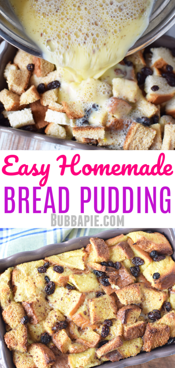 Easy Homemade Bread Pudding