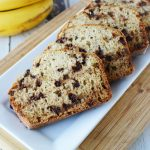 chocolate chip banana bread is moist and delicious