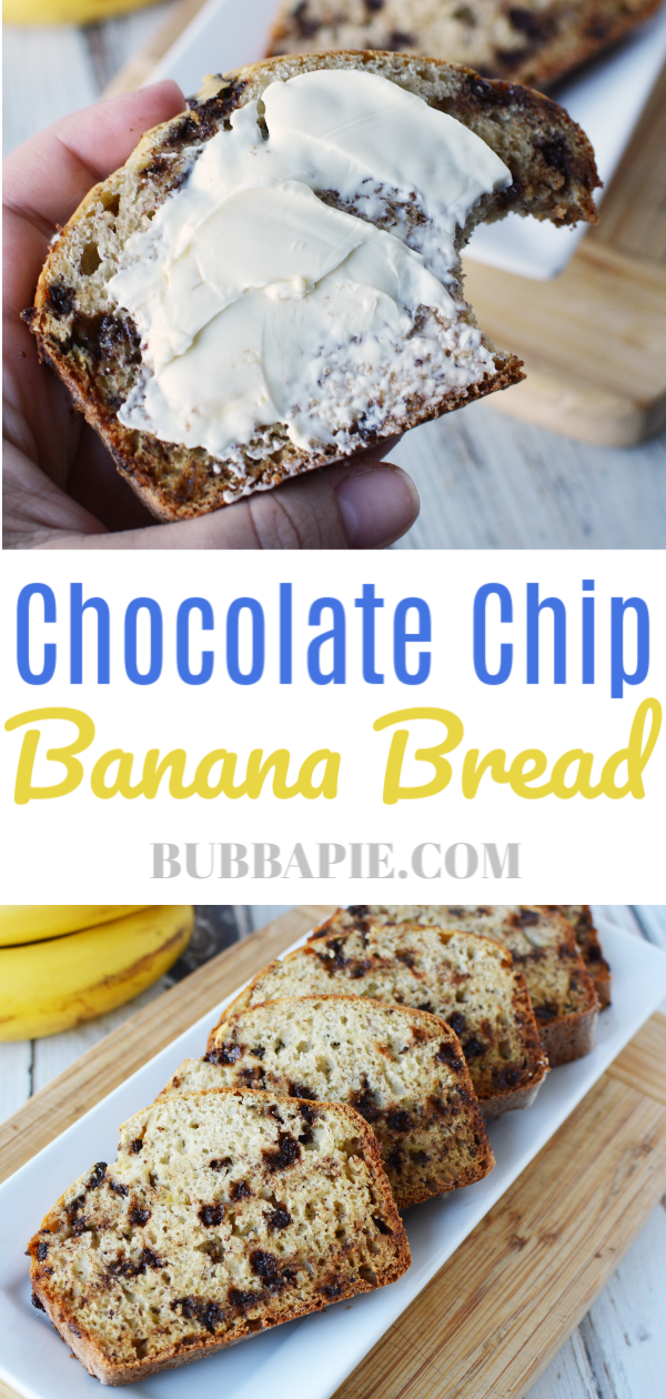 chocolate chip banana bread pin