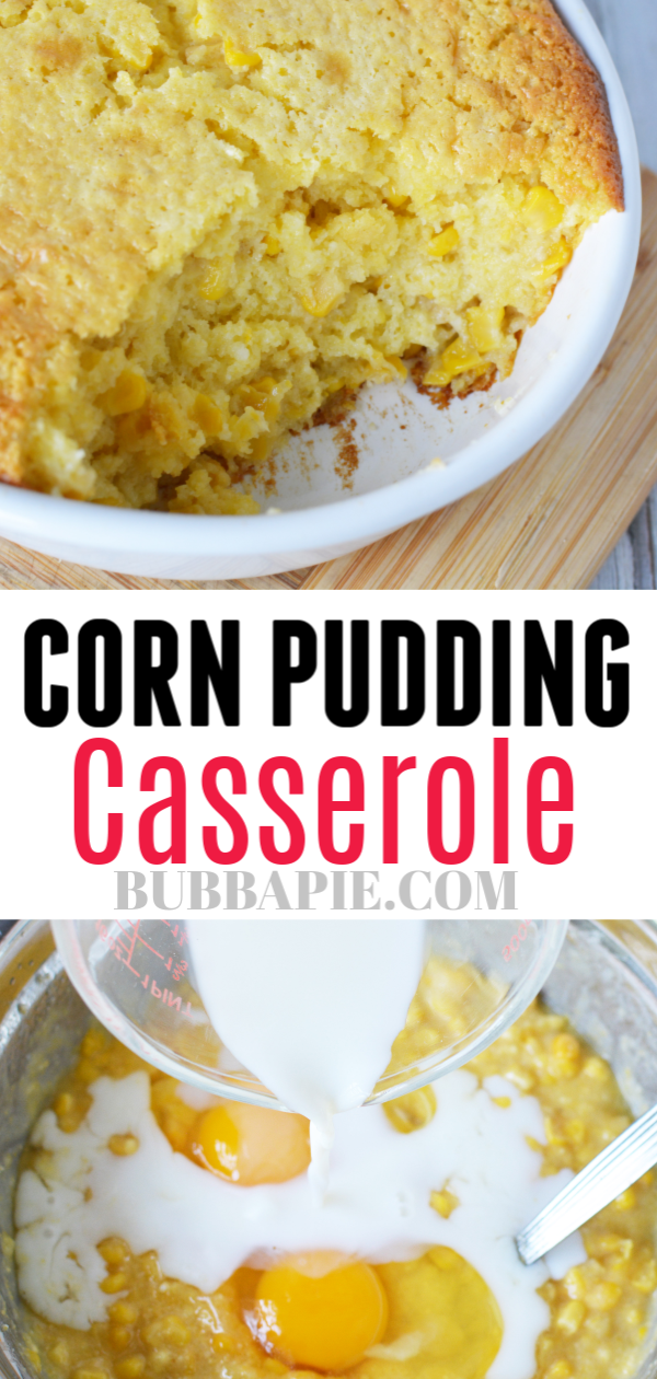 corn pudding casserole pin