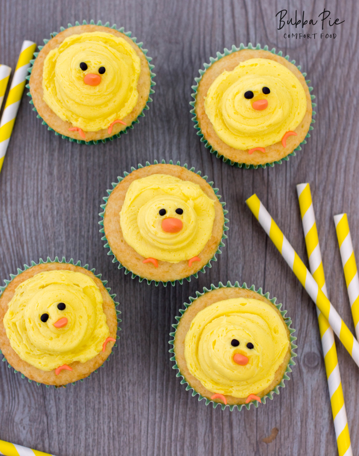 easter cupcakes with baby chicks and homemade buttercream frosting