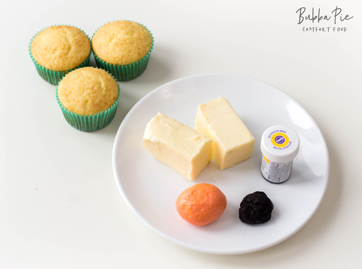 ingredients for homemade buttercream frosting