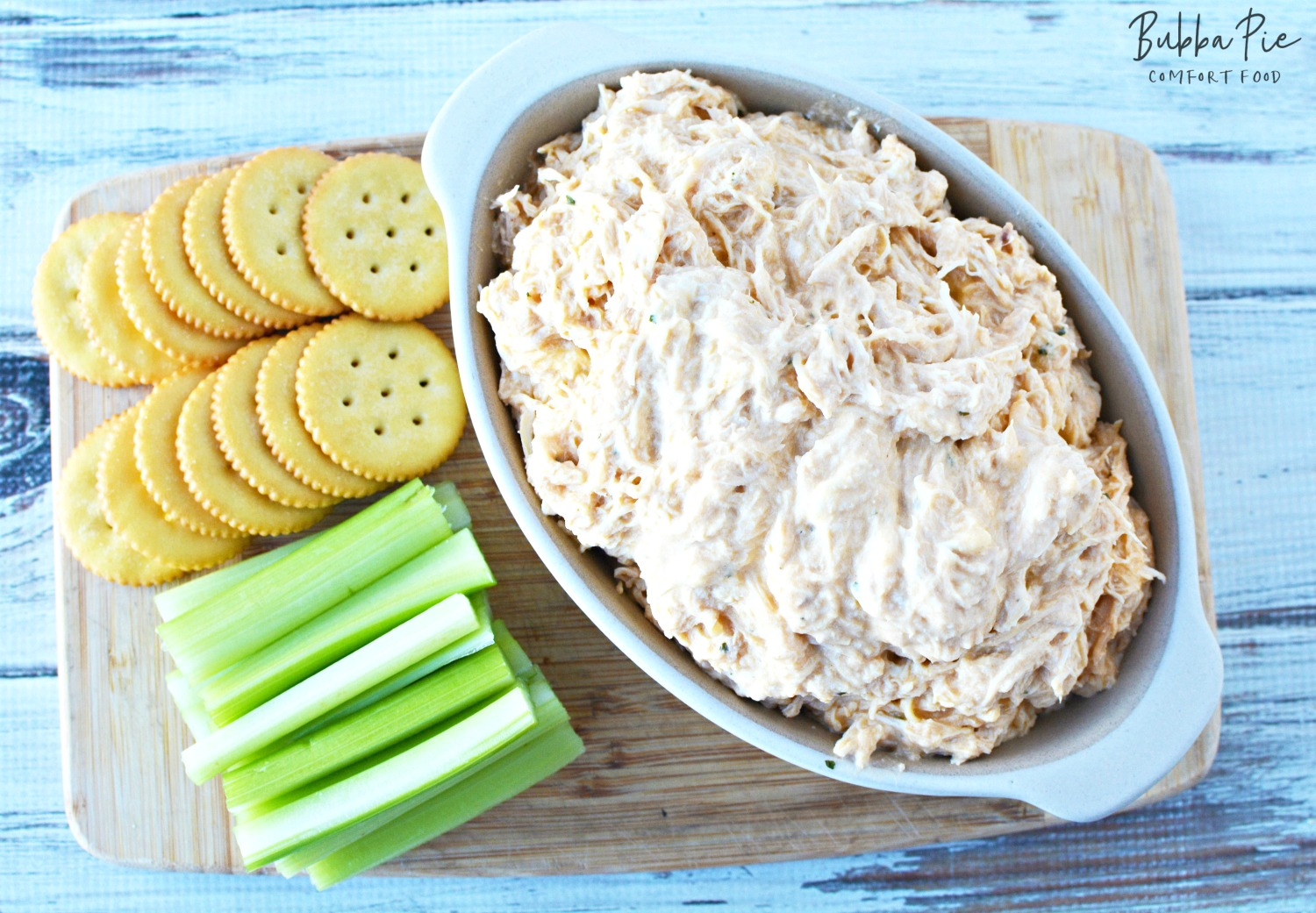 This Buffalo Chicken Dip Crock Pot Recipe is a great appetizer of game day snack