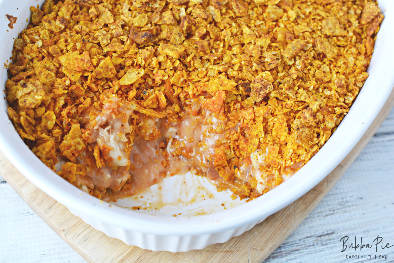 Mexican Chicken Casserole is great when made with Doritos!