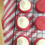 gluten free red velvet cupcakes with cream cheese frosting