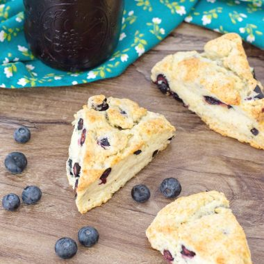 Blueberry Scones are perfect for breakfast or brunch.