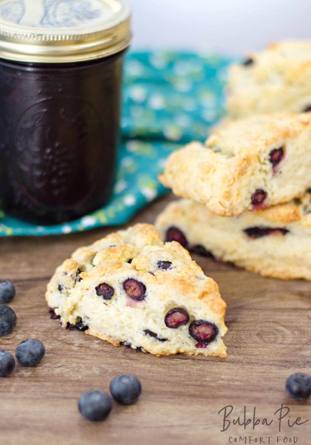 Easy Blueberry Scones recipe is a fun fruit pastry to make for breakfast