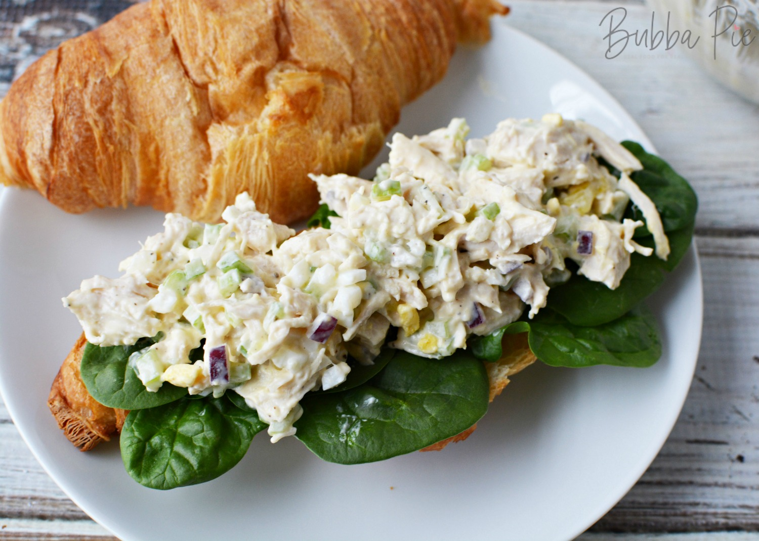 Southern Style Chicken Salad has mayonnaise, onions and egg in it