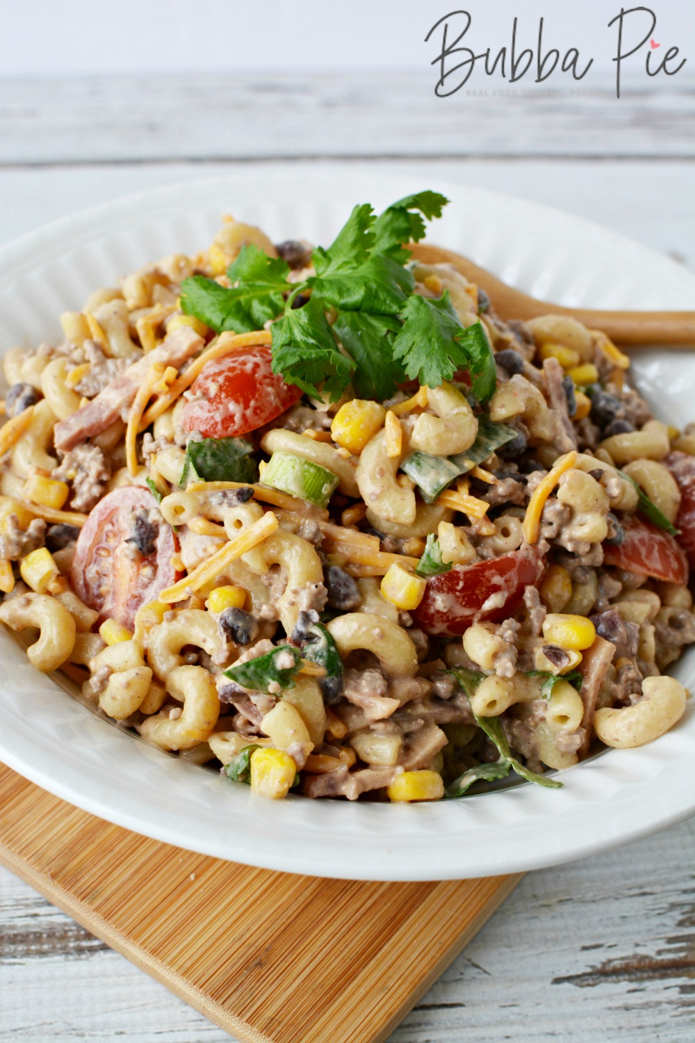 pasta salad with meat