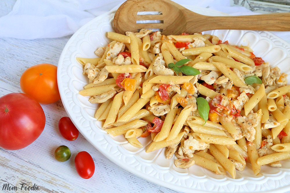 Chicken and pasta with fresh tomato cream sauce is one of the Best Comfort Food Recipes