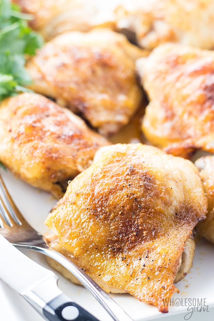 Chicken Thigh Recipes baked in the oven
