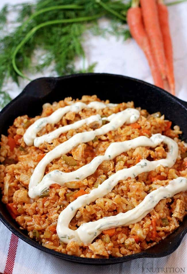 Buffalo Rice is a great veggie Comfort Food Recipe