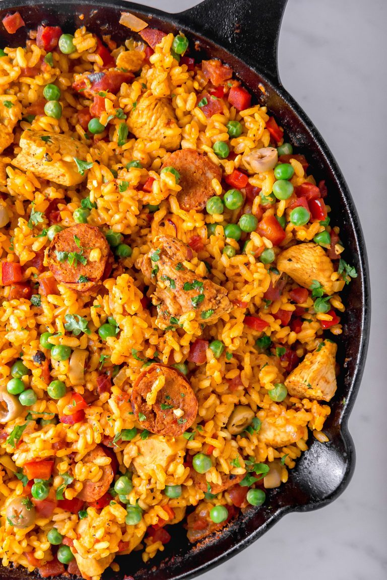 This Chorizo and Chicken Paella is delicious Southern Comfort Food