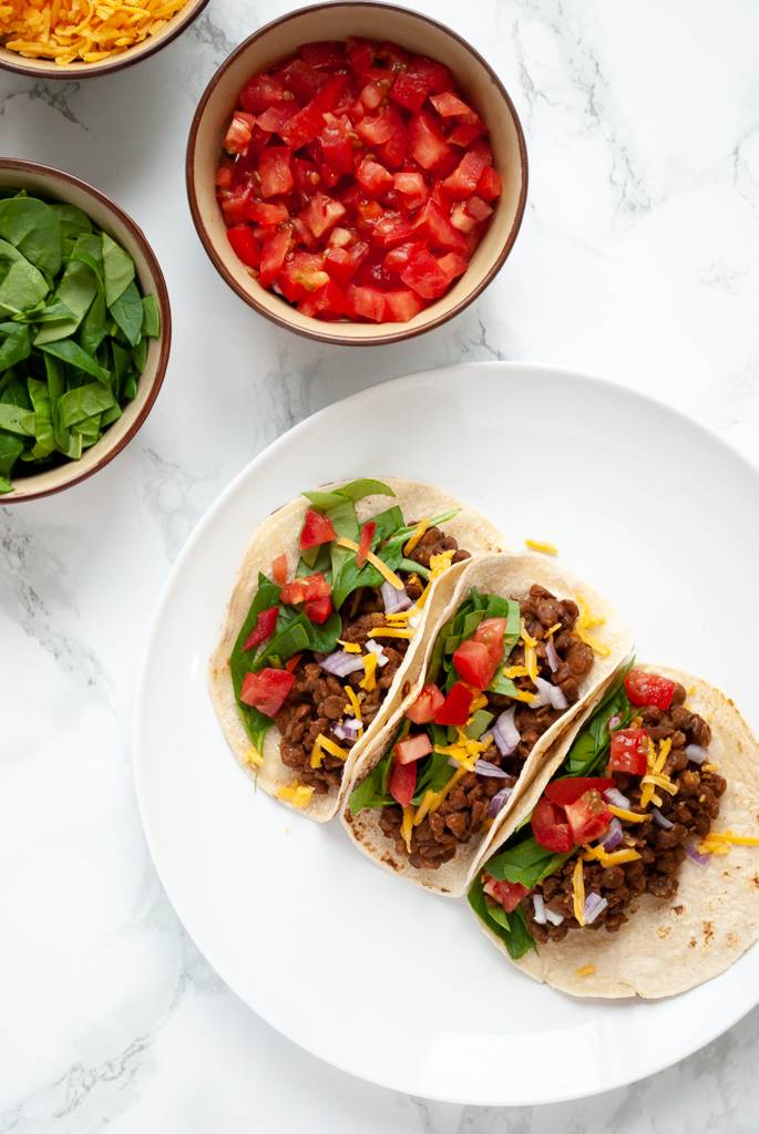 try these lentil taco for a Vegetarian comfort food recipes
