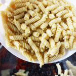 Cook pasta and rinse with cold water