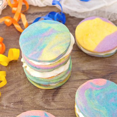 Rainbow Sugar Cookies Sandwich Recipe