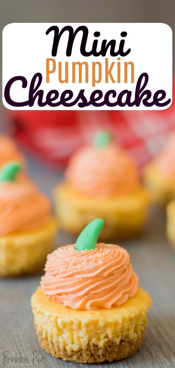 mini pumpkin cheesecake pin
