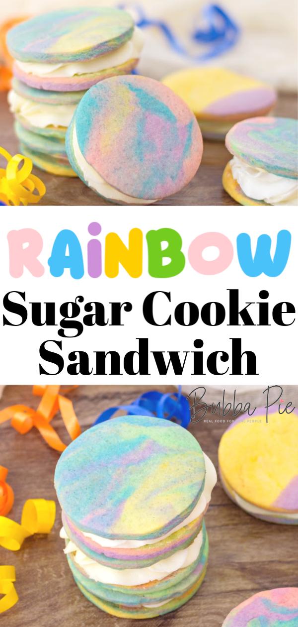 rainbow sugar cookie sandwich pin