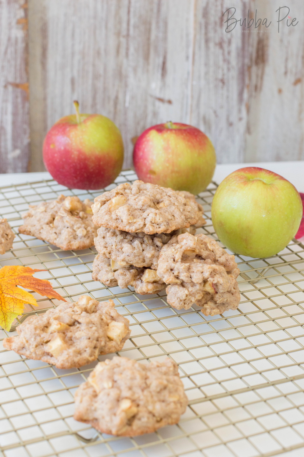 Apple Cookie Recipe has oatmeal and cinnamon