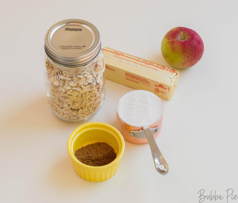 Apple Oatmeal Cookie Ingredients include cinnamon and nutmeg