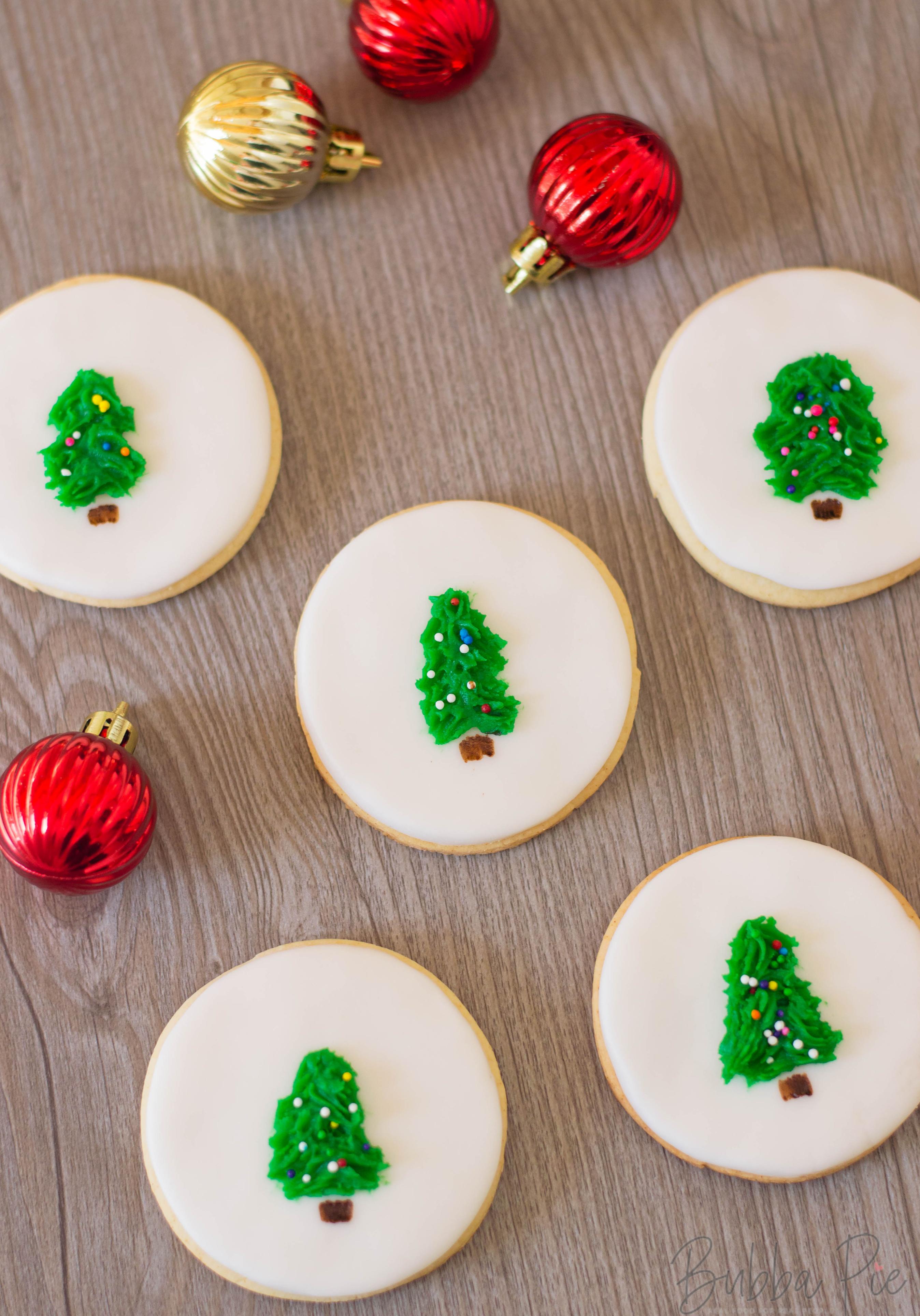 How to make Christmas Tree Sugar Cookies