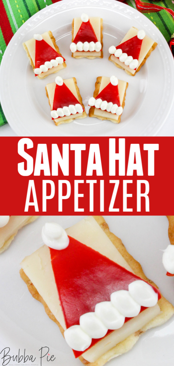 Santa Hat Appetizer Pin1