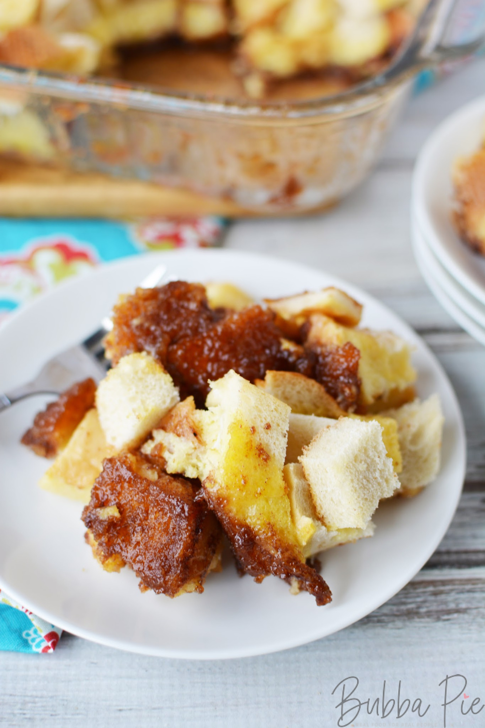 French Toast Bake Recipe is made with eggs, cinnamon and brown sugar