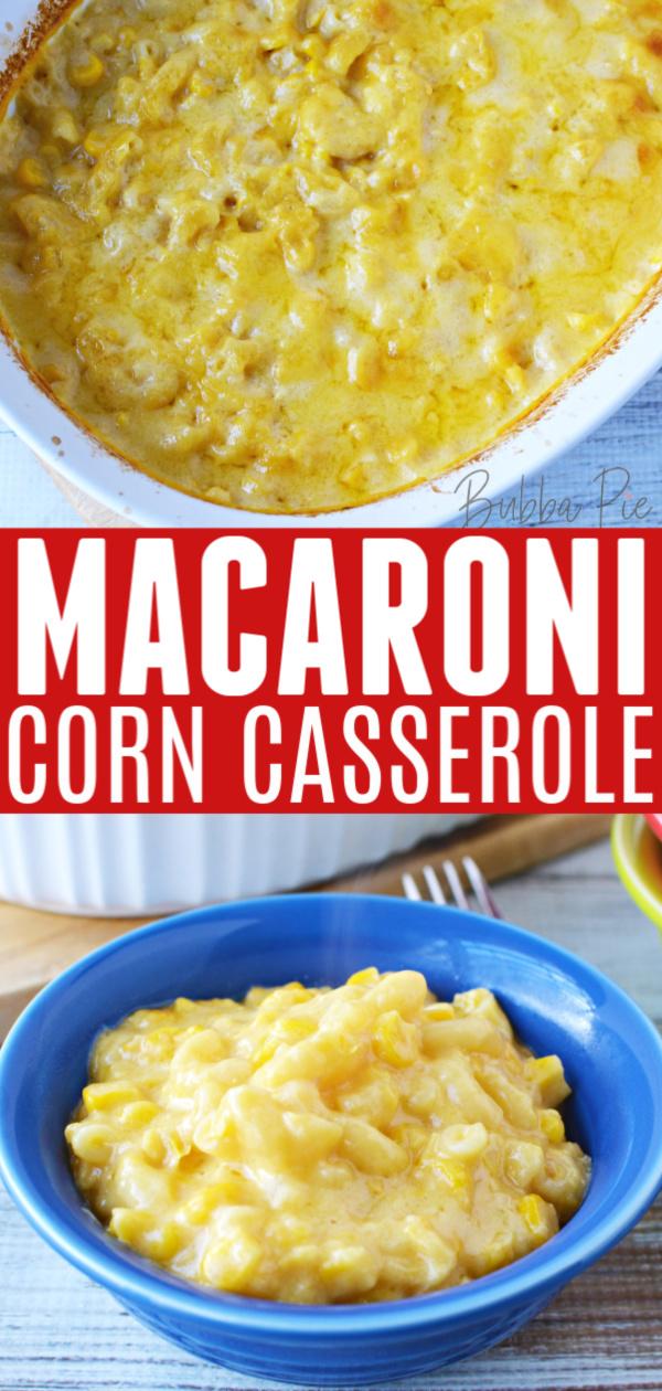 Macaroni Corn Casserole Pin