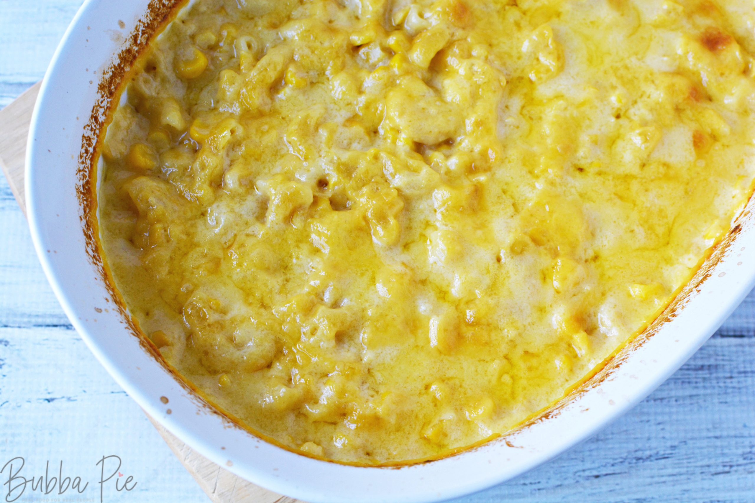 Macaroni Corn Casserole is a fun and easy family dinner recipe