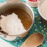 Add dry mixture to wet blondie mixture