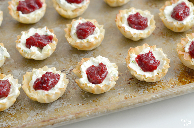 Cranberry Cream Cheese Appetizer on a serving tray.