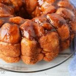 Rhodes Rolls Monkey Bread made with frozen dough
