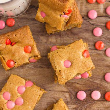 Valentine's Day Brown Sugar Blondies