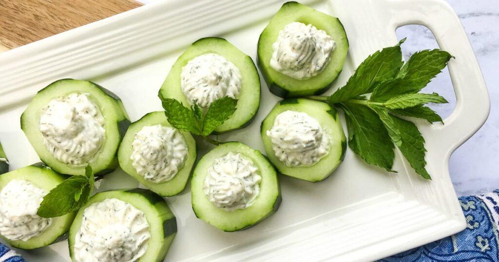 Vegan Cucumber Feta Chips