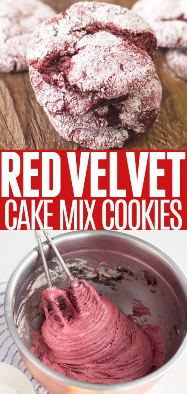 Red Velvet Cake Mix Cookies Pin 1