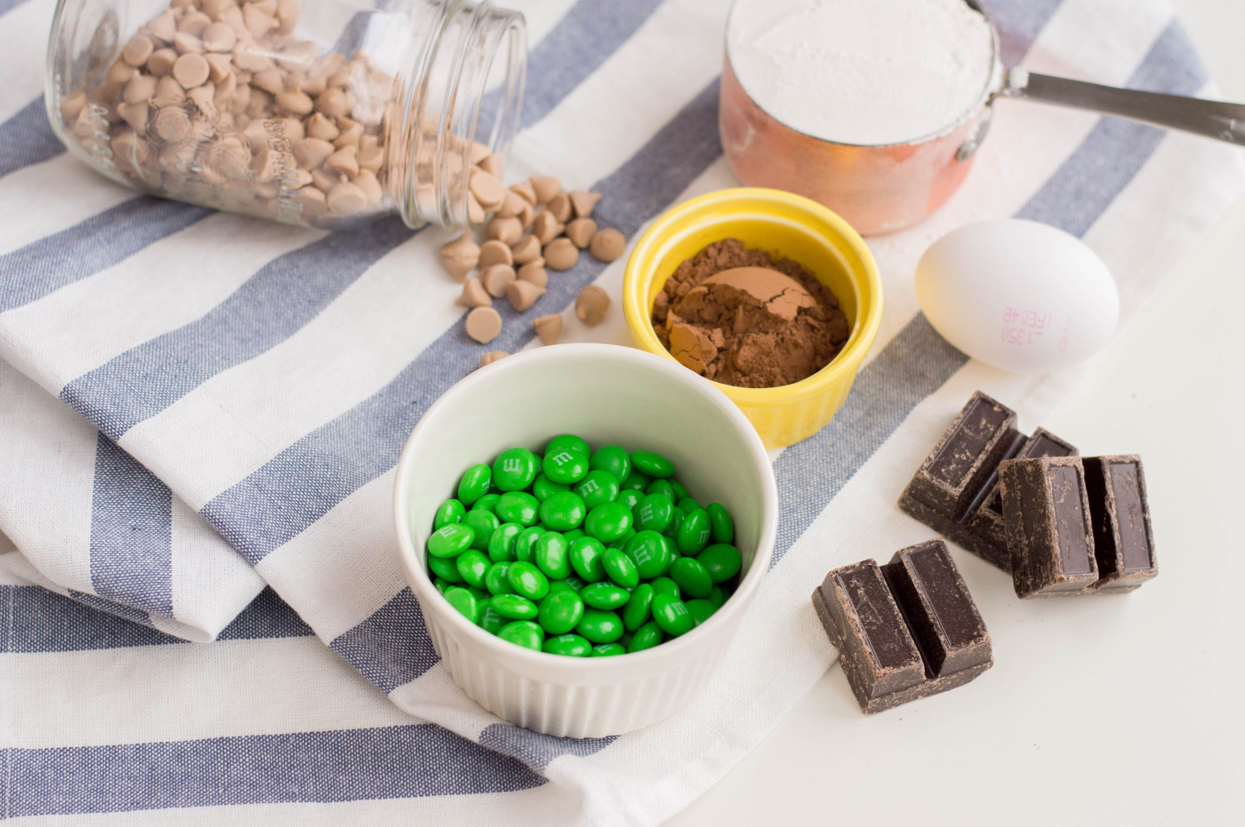 St. Patrick's Day Cookie Ingredients