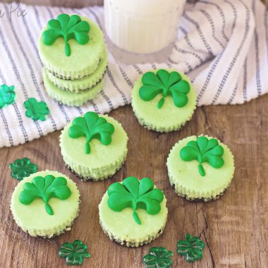 St. Patrick's Day Mini Cheesecake Bites