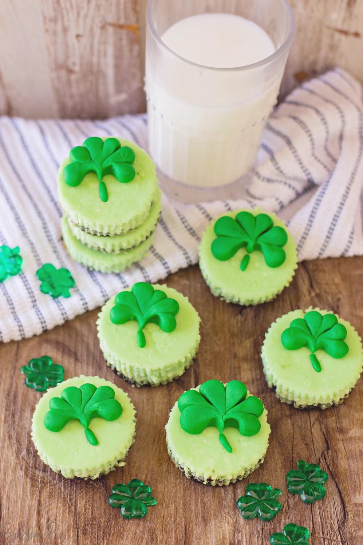 St. Patrick's Day Mini Cheesecake Bites Recipe
