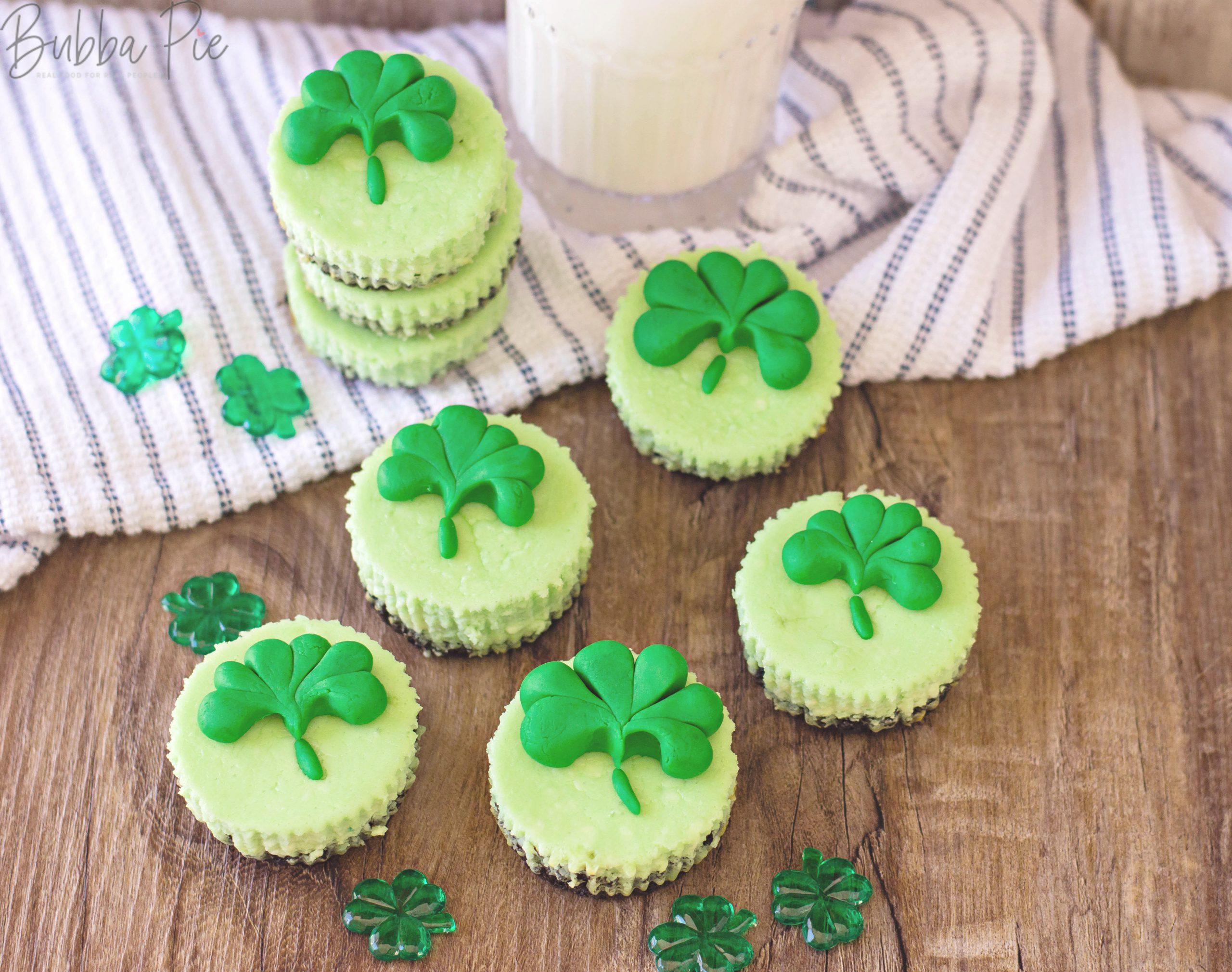 St. Patrick's Day Mini Cheesecake Bites