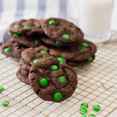 St. Patrick's Day Cookies with Green M&Ms