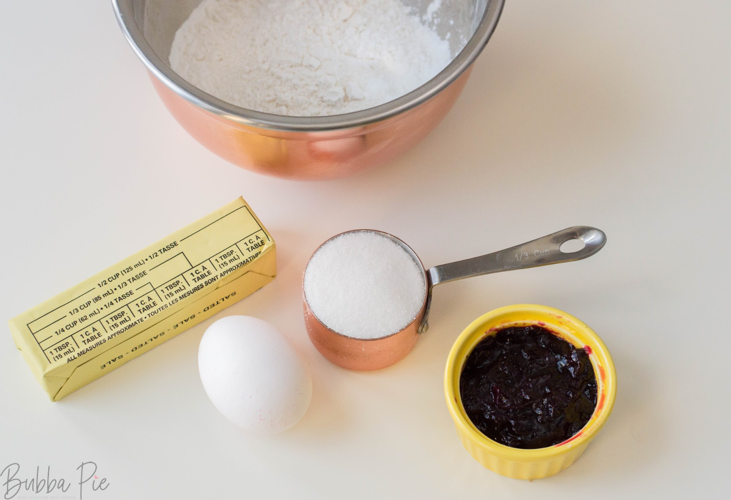 Blueberry Thumbprint Cookies Ingredients