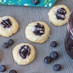 Blueberry Thumbprint Cookies with frosting