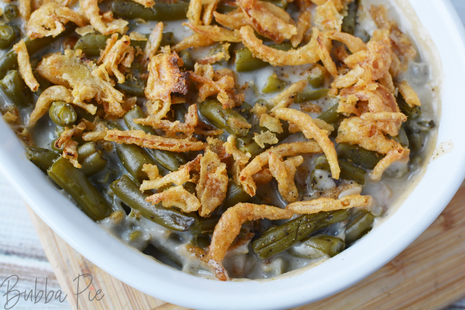 Campbell's Green Bean Casserole makes a great side dish for any occasion